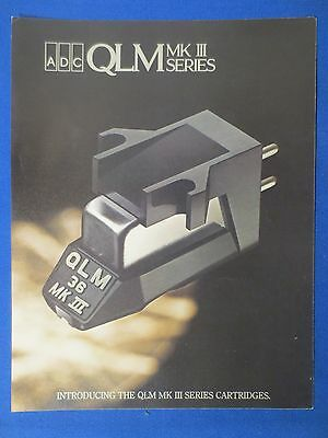 Adc Qlm 36 Mk Iii 34 32 30 Cartridges Sales Brochure Original Factory Issue