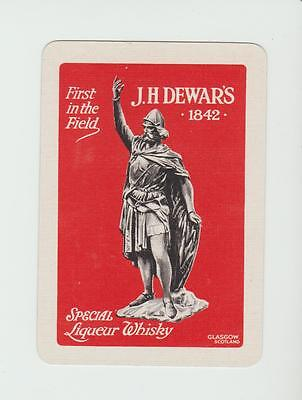 JH DEWAR WHISKY  PLAYING  CARDS Single card WIDE