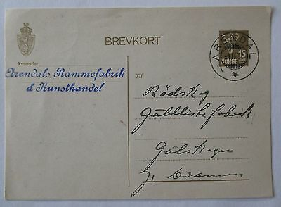 Norway. Used postal stationery card. 1932.