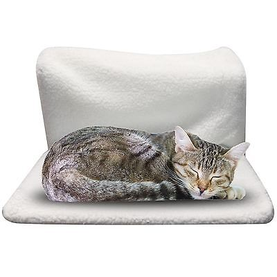 Pet Cat Dog Radiator Bed Warm Soft Fleece Cradle Basket Hanging Hammock Frame
