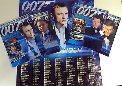 James Bond 007 Trading Card Magazine Collection, 4 Issues + Poster.