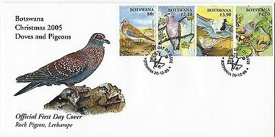 Botswana 2005 Christmas - Doves and Pigeons FDC