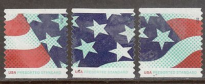 Scott #4961-63 Used Set of 3, Stars and Stripes (Off Paper)