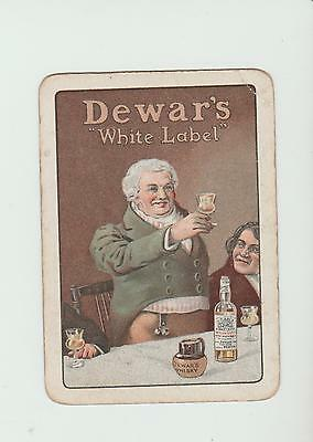 #14     DEWARS WHISKY  PLAYING  CARDS Single card WIDE