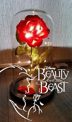 Beauty and The Beast Enchanted Rose Centerpiece/Ornament/Prop with lights