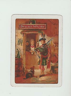 #16     DEWARS WHISKY  PLAYING  CARDS Single card WIDE