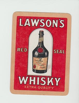 scotland on label LAWSON   WHISKY  PLAYING  CARDS Single card WIDE