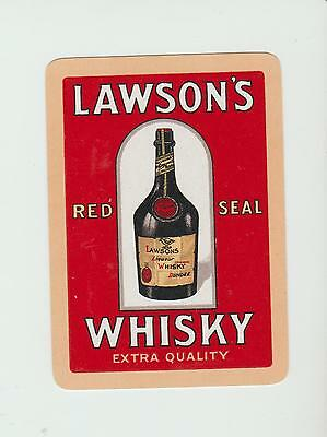 scotland NOT  on label LAWSON   WHISKY  PLAYING  CARDS Single card WIDE
