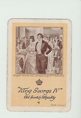 KING GEORGE   WHISKY  PLAYING  CARDS Single card WIDE