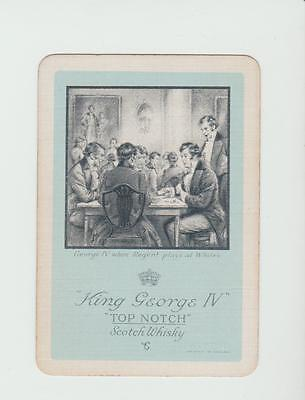 #2  KING GEORGE   WHISKY  PLAYING  CARDS Single card WIDE