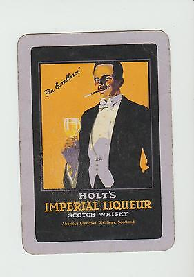HOLTS  WHISKY  PLAYING  CARDS Single card WIDE