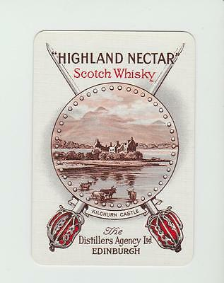 HIGHLAND NECTAR  WHISKY  PLAYING  CARDS Single card WIDE