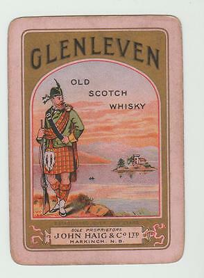 GLENLEVEN  WHISKY  PLAYING  CARDS Single card WIDE