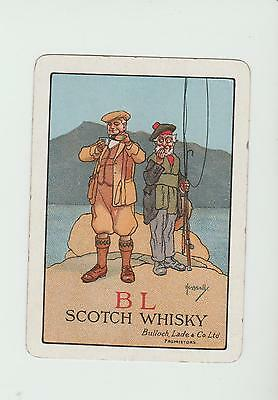 BULLOCH LADE  WHISKY  PLAYING  CARDS Single card WIDE