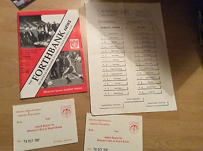 1997 Stirling Albion V Dundee Programme And Extras