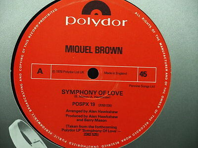 "Miquel Brown - Symphony Of Love - Classic Disco 12"" - Plays Ex!"