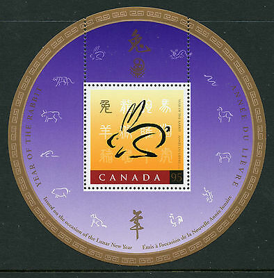 Weeda Canada 1768i VF MNH Souvenir Sheet with China '99 logo, 1999 Rabbit  CV $3