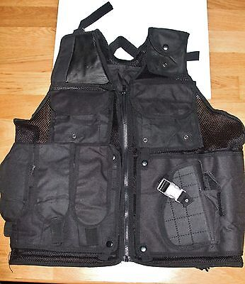 Black Police Military Tactical Vest Wargame cosplay