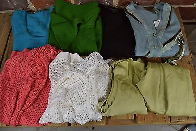 Lot of 8 Assorted Women's Tops: Cardigans and Shirts Sizes Large and X-Large