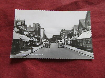 VINTAGE HAMPSHIRE: EASTLEIGH Market Street RP b&w Bicycle CAR