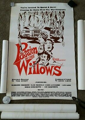 "Vintage 1977 ""Passion In The Willows"" Movie Film Poster and Original Art Lot"