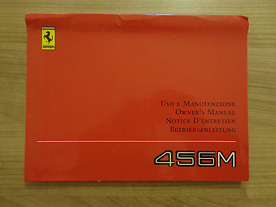 Ferrari 456M Owners Handbook/Manual