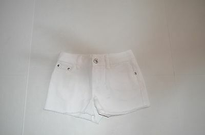 Nwt Youth Girls Justice Simply Low Acid Wash White Color Shorts Size 10 Cut Offs