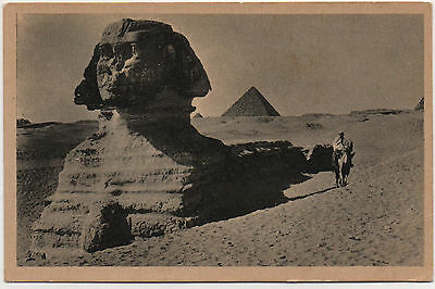 Old  Postcard The Great Sphinx of Giza