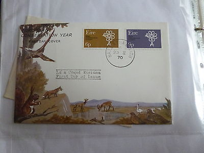 1970 Irish Ireland Eire Conservation Year Illustrated FDC First Day Covers