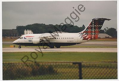 Colour print of British Airways BAe 146 200 G-GNTZ at Manchester in 1999