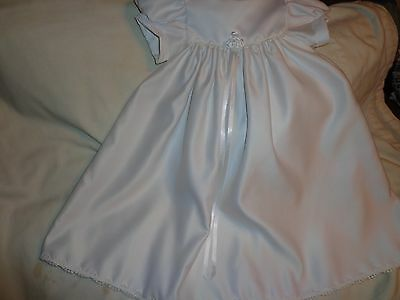 Christening Baptism dress One Small Child size 12 month, simple white dress