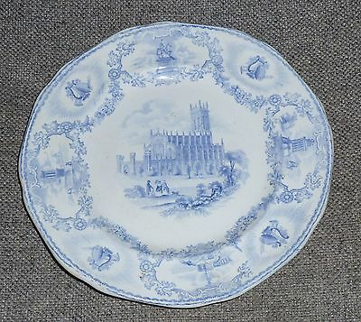 Scottish Pottery Bo'ness Pottery Blue and White Modern Athens Plate c1845