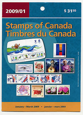 Weeda Canada 2009 January-March Quarterly Pack, sealed! Face value $38.70