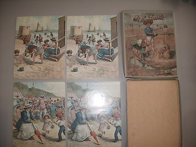 Two Wood Puzzles At the Seaside boxed Original