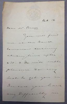 Henry Winterbotham, Lawyer, Liberal MP for Stroud, ALS, SIGNED letter