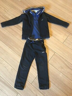 Boys Navy Hugo Boss Tracksuit With Matching Polo Age 4-5