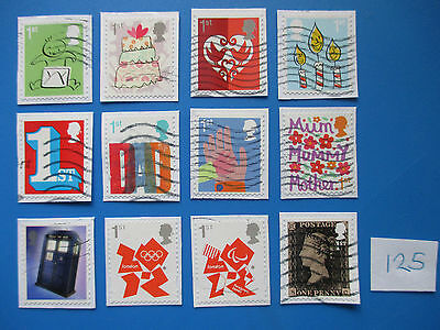 GB SA commemoratives:  including 2015 smiler set - used & neatly trimmed  #125