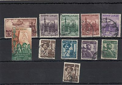 Egypt. 11 --1950's Used Stamps On Stockcard