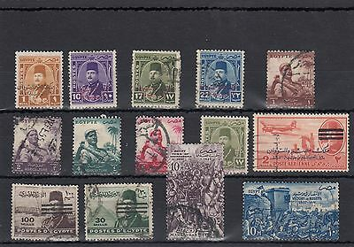 Egypt.14 --1950's Used Stamps On Stockcard