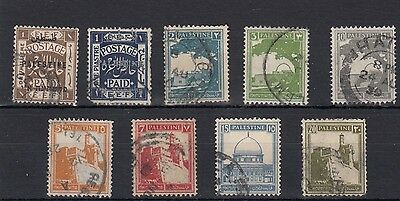 Palestine.9 -- 1920/7 Used Stamps On Stockcard