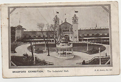 Vintage Postcard Bradford Exhibition  Posted in 1904 to Huddersfield