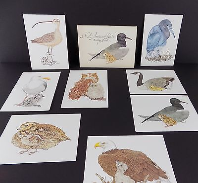 Vintage Current Stationary North American Birds 7 NOTE CARDS Linda K Powell