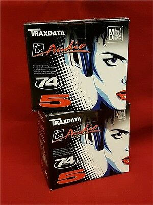 Traxdata 74 Minutes Vierges Minidisc MD 10 DISQUES NEW