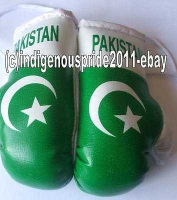Pakistan Flag mini boxing gloves for your car mirror-Get the best.Great gift