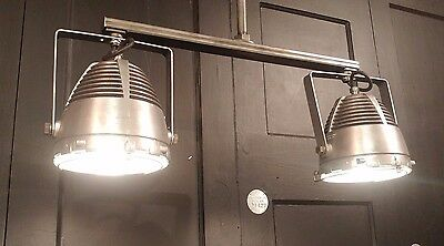 Vintage Industrial Double Pendant Hanging Light Fixture - Kitchen Island Counter