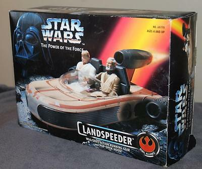 Star Wars~ Power of the Force  *LANDSPEEDER*    NIB  Pop open hood/Shift Action
