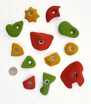 Rock Climbing Holds, New, 12 Mixed Set, Made By X-Es Climbing Holds.