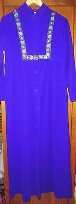 Vintage St Michael Nylon M&S purple dressing gown VGC bust 36in