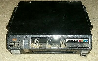 Vintage 1975 Craig Car Stereo 8-track/FM/MPLX Model 3136 classic for muscle car