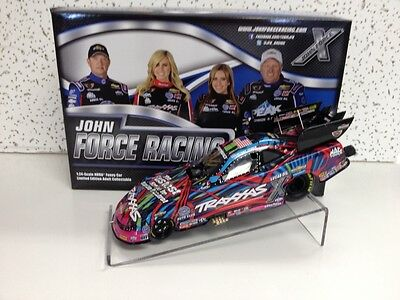Autographed Courtney and John Force Traxxas 2015 Funny Car, Action 1/24th